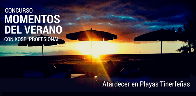 MOMENTOS DEL VERANO: Atardecer en playas tinerfeñas