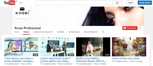 Canal de Youtube de Kosei Profesional