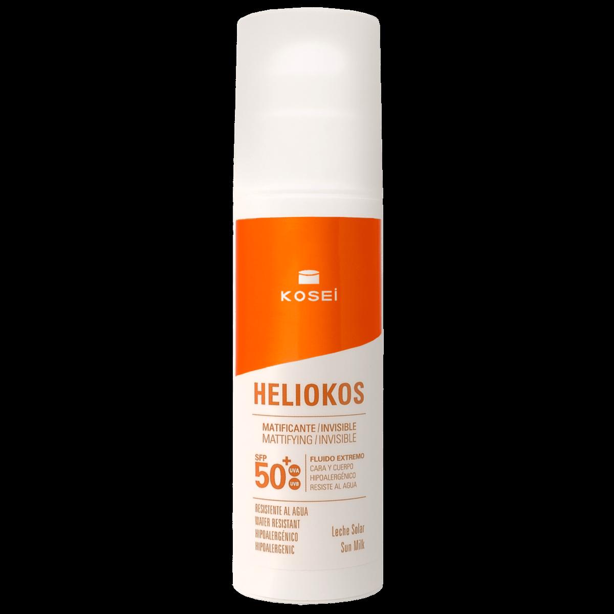 Protector solar 50 Heliokos fluido extremo invisible
