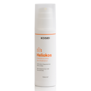 HELIOKOS Leche solar ultraprotectora intolerancias solares FP 50+. Protector solar pieles sensibles