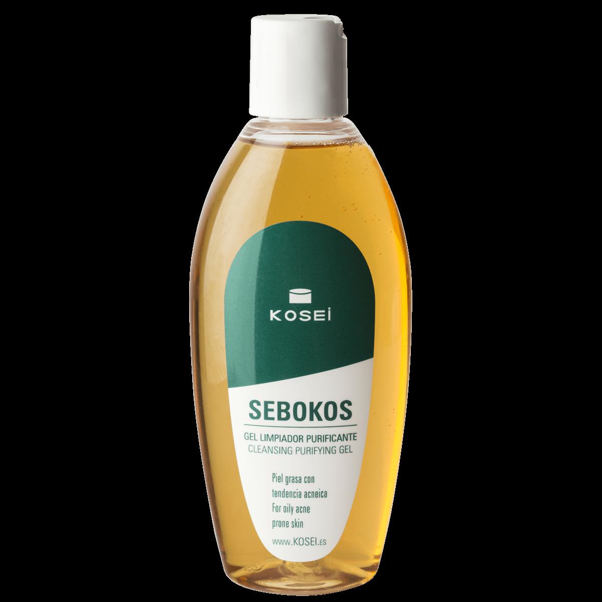 SEBOKOS gel limpiador facial purificante