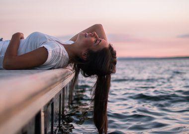 Agua de mar cabello